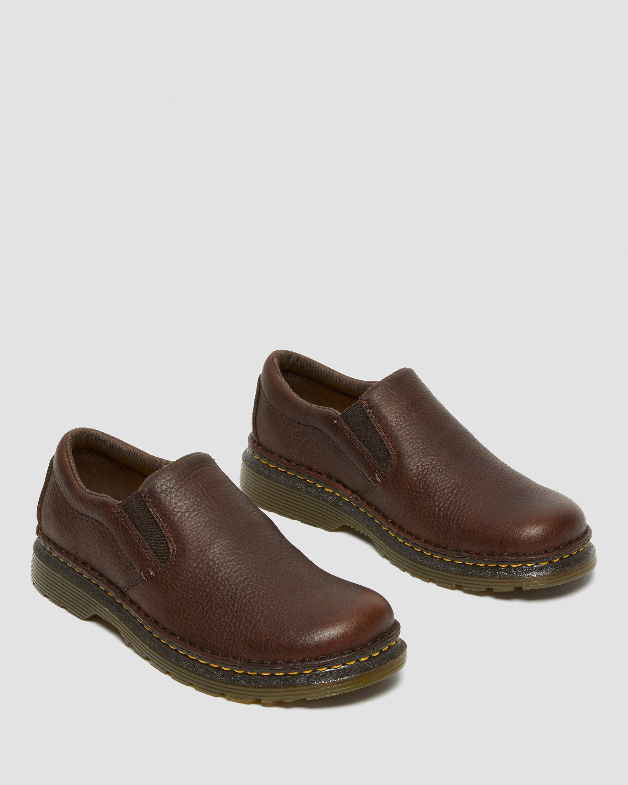 BOYLE MEN'S GRIZZLY LEATHER SLIP ON