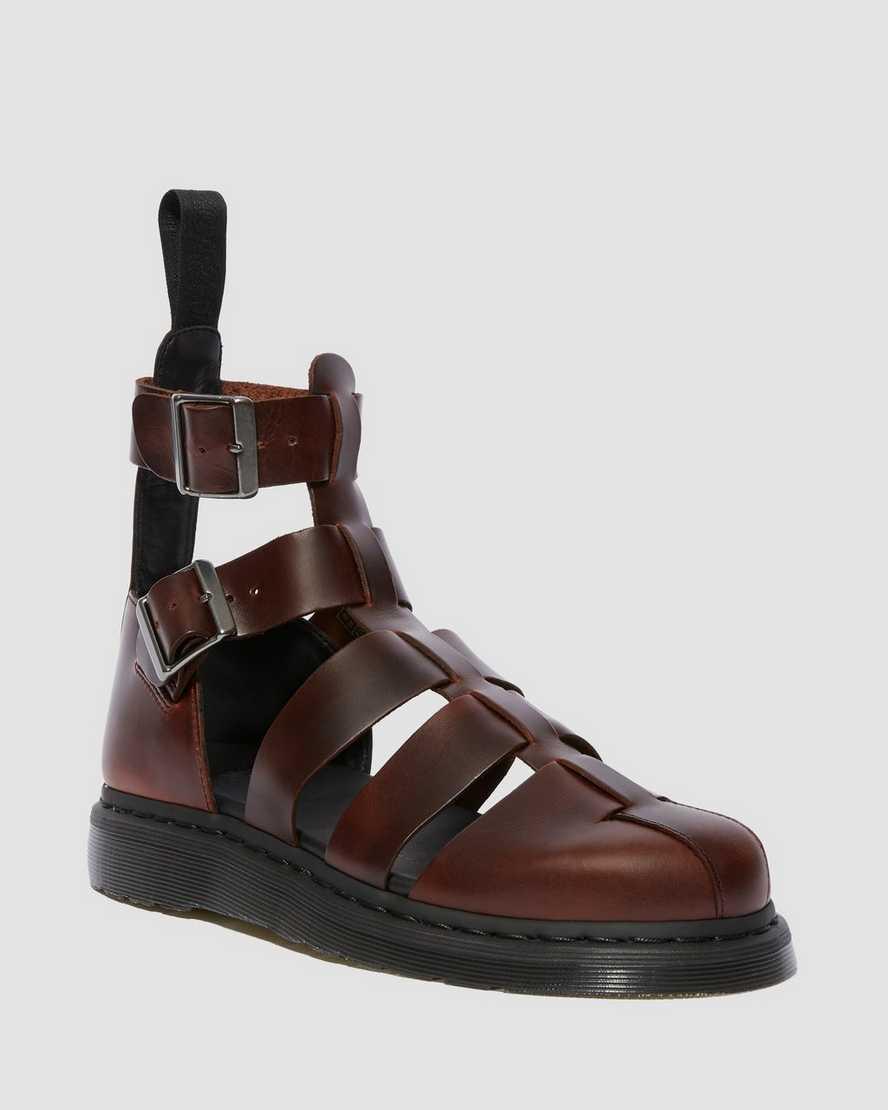Geraldo Leather Gladiator Sandals | Dr Martens