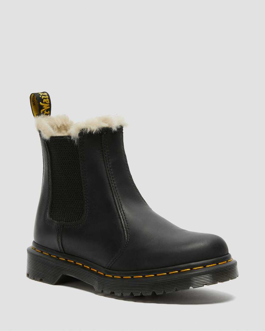 2976 Women S Faux Fur Lined Chelsea Boots Dr Martens Official