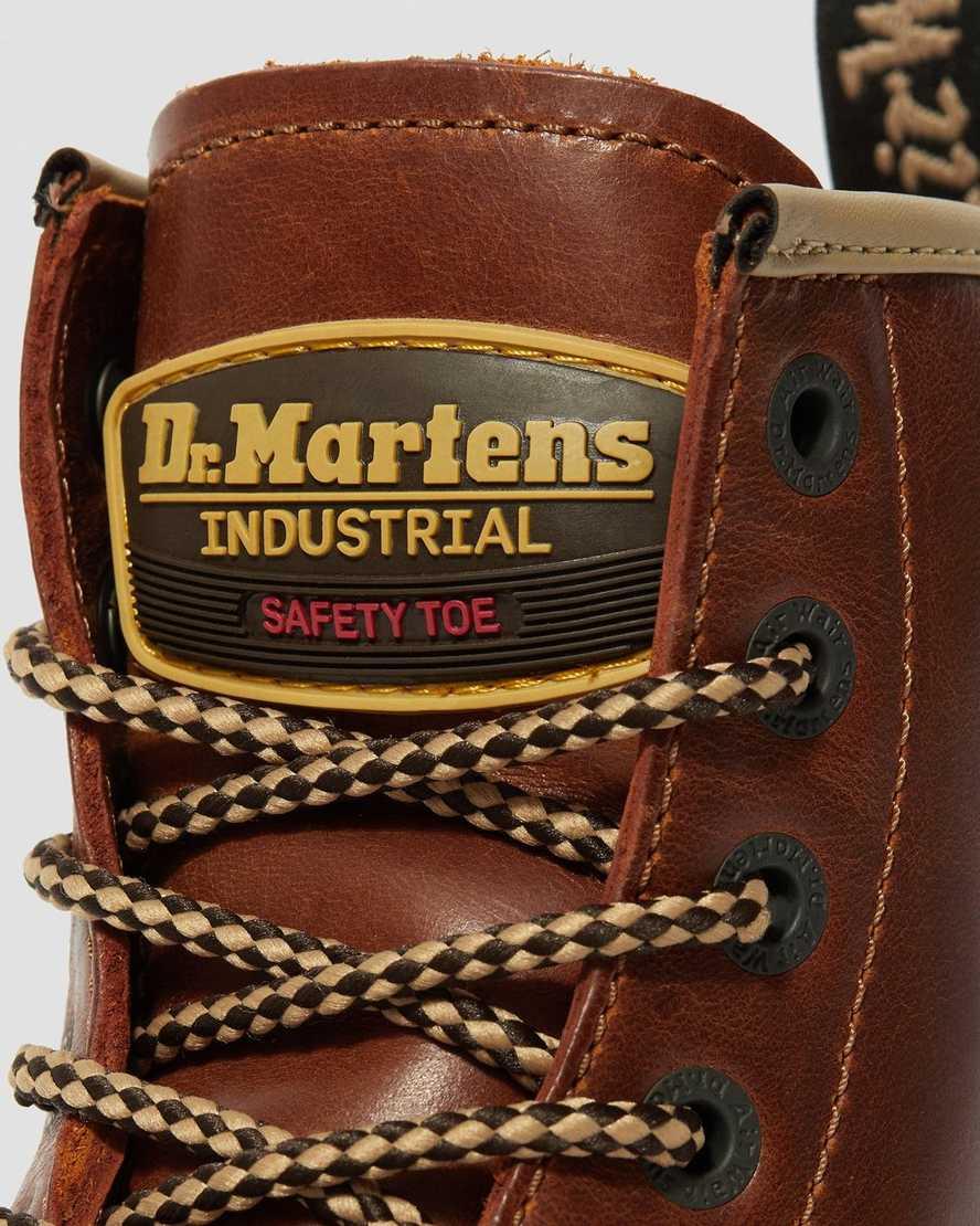 Dr Martens Uomo Industriale Acciaio Cappello Icon 7B10 7 Occhio Stivali Neri
