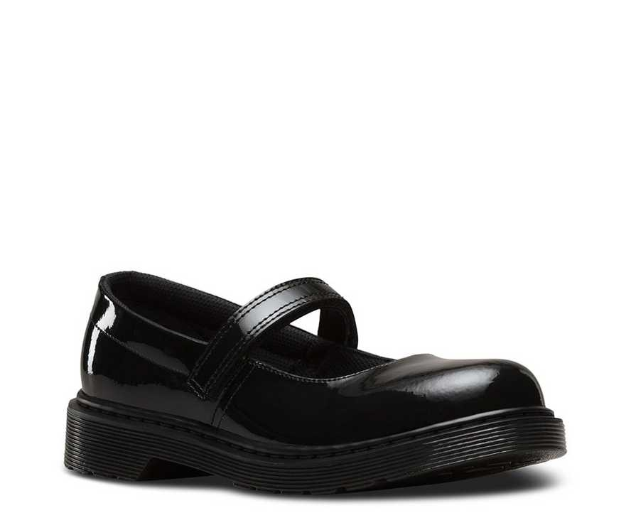 Youth Maccy Patent Leather Mary Jane Shoes | Dr Martens