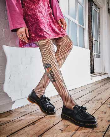 Adrian Yellow Stitch Leather Tassel Loafers Dr Martens Official