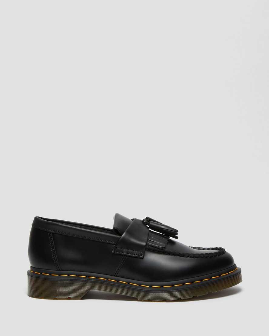 Women/'s Shoes Dr Martens ADRIAN Tassel Leather Slip On Loafers 24369001 BLACK