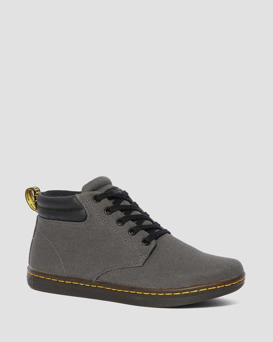 Maleke Men's Twill Canvas Casual Boots | Dr Martens