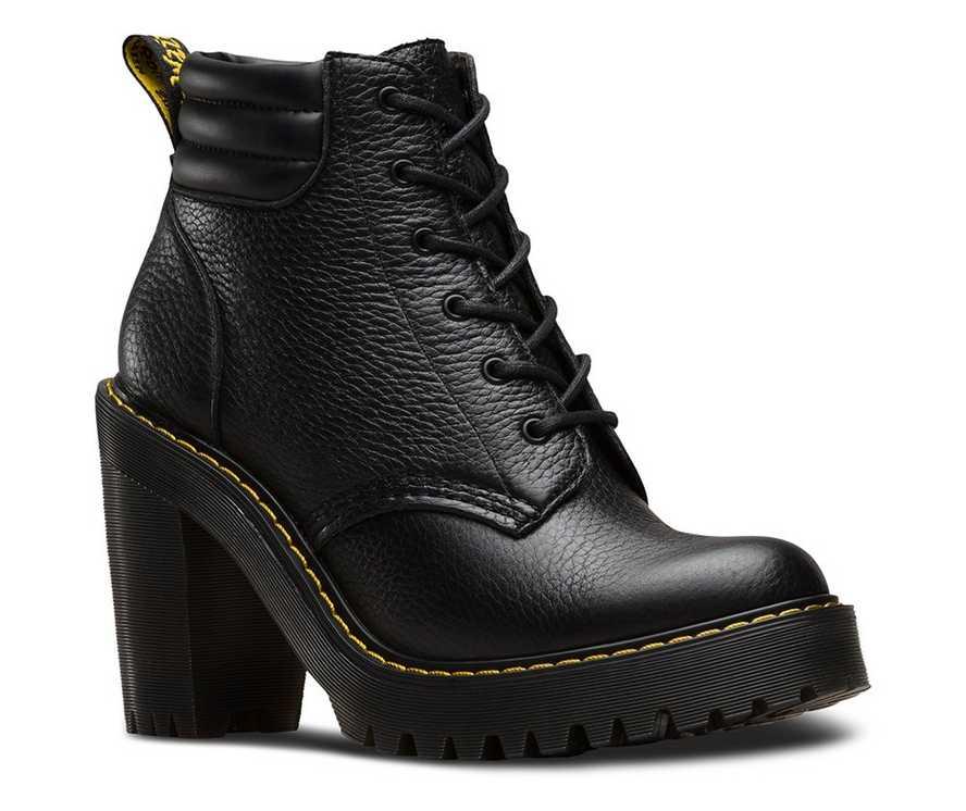 Black womens Doc martens high heels Persephone