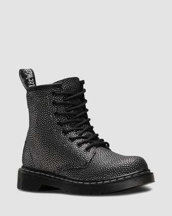 BLACK/SILVER | Boots | Dr. Martens