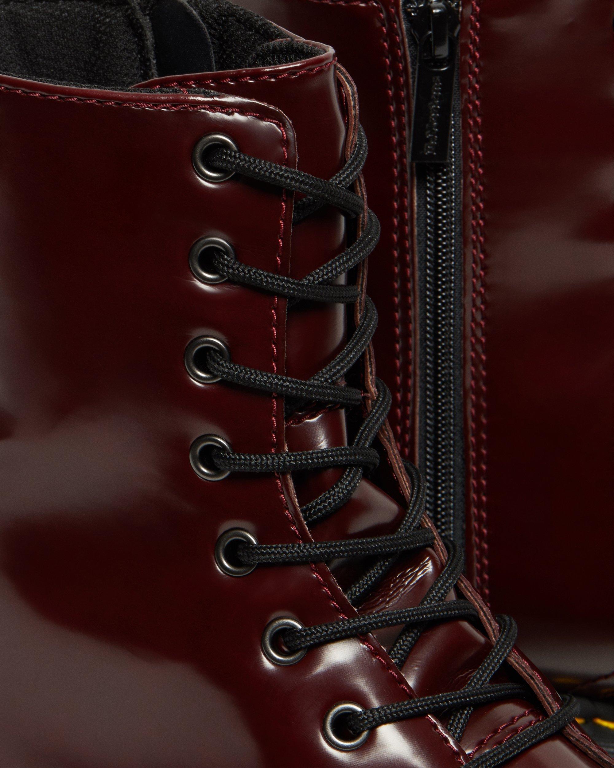Red – Dr. Martens V Jadon II 8 Eye Boots Womens Low Heel 1