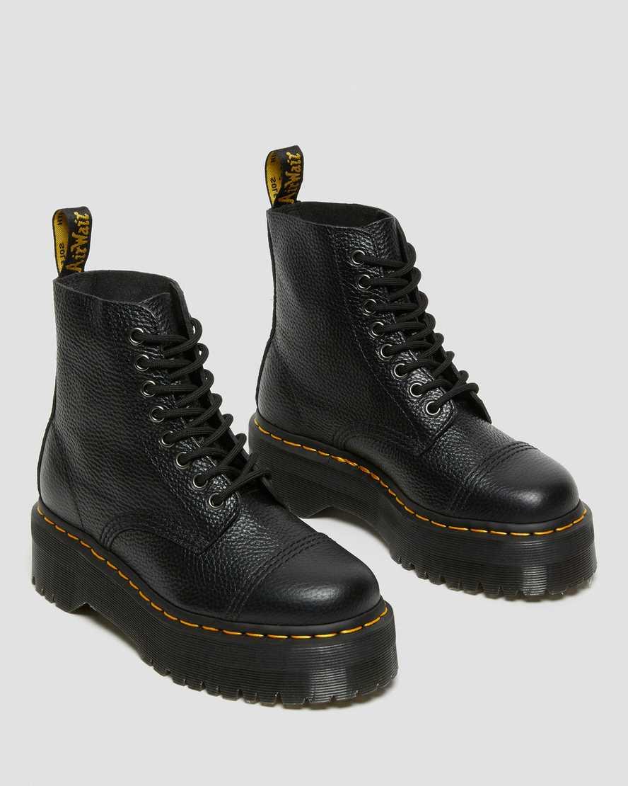 Sinclair Leather Platform Boots Dr Martens Uk