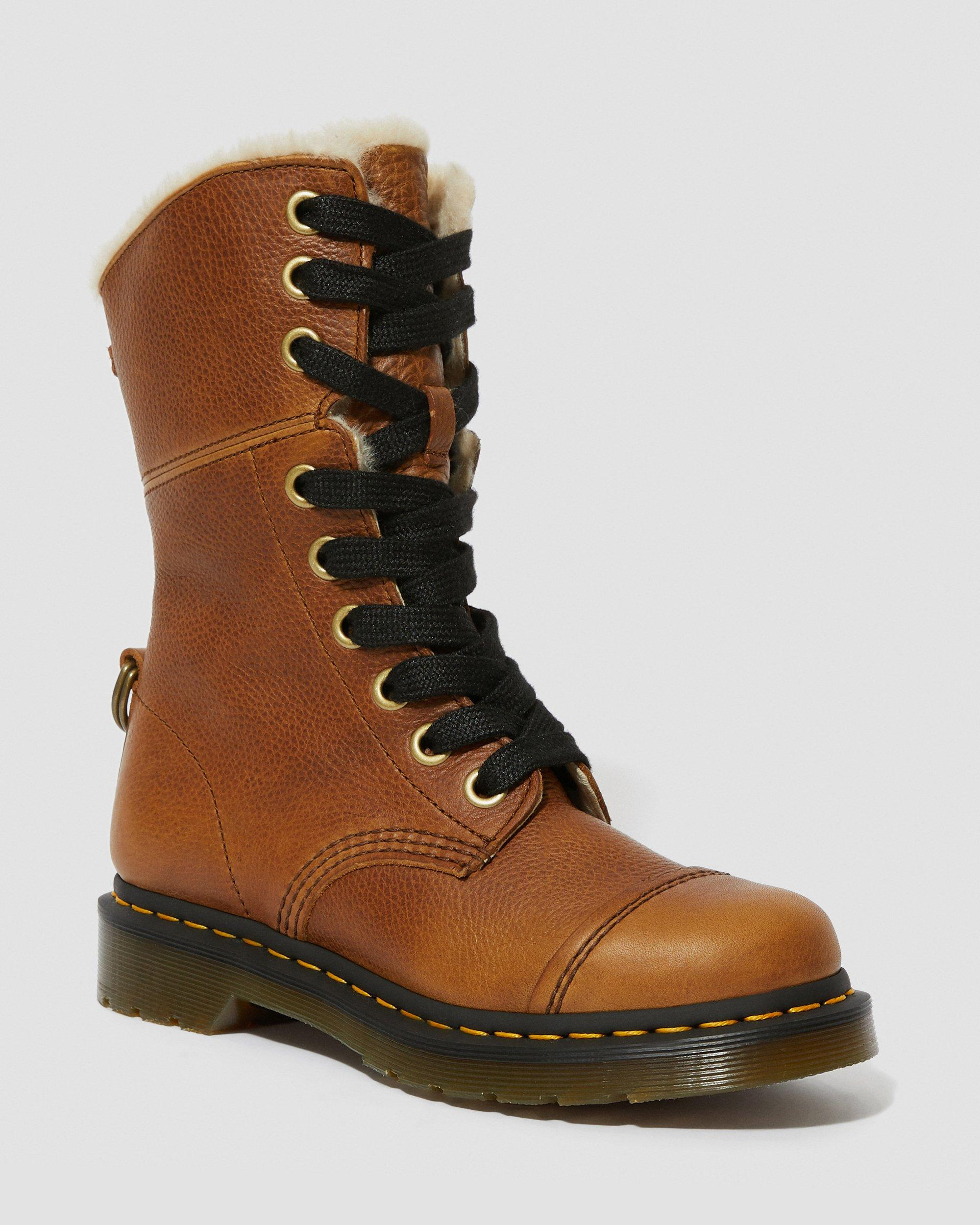 DR MARTENS FUR LINED AIMILITA GRIZZLY