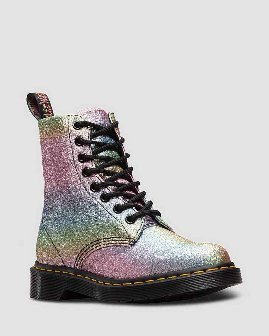 Champagne Strofinare nudo  1460 PASCAL RAINBOW GLITTER   Dr. Martens Official
