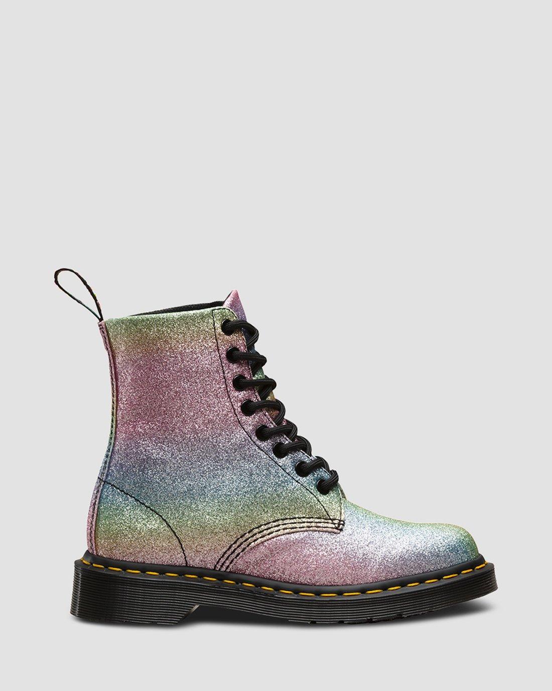 Discount Womens Dr Martens Pascal Rainbow Glitter Womens