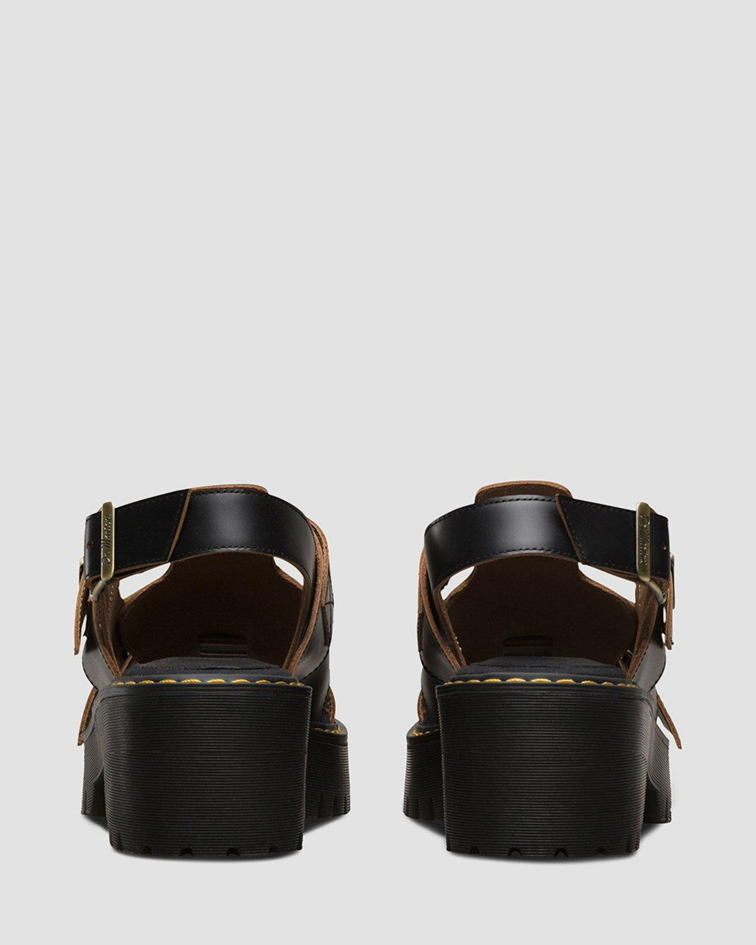 Dr.Martens Ariel Black Womens Vintage Smooth Sandals from