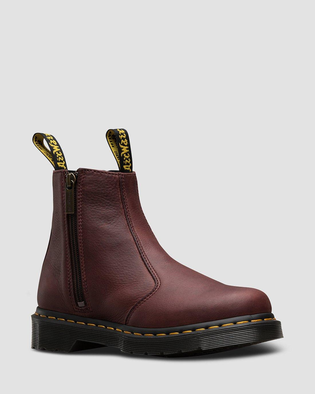 DR MARTENS 2976 WZIP GRIZZLY CHELSEA BOOTS