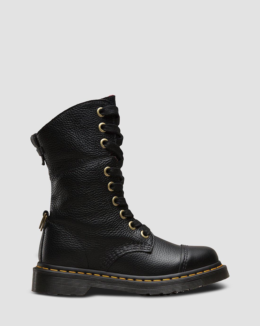 Dr. Martens Women's Aimilie Boot,Black Darkened Mirage,7