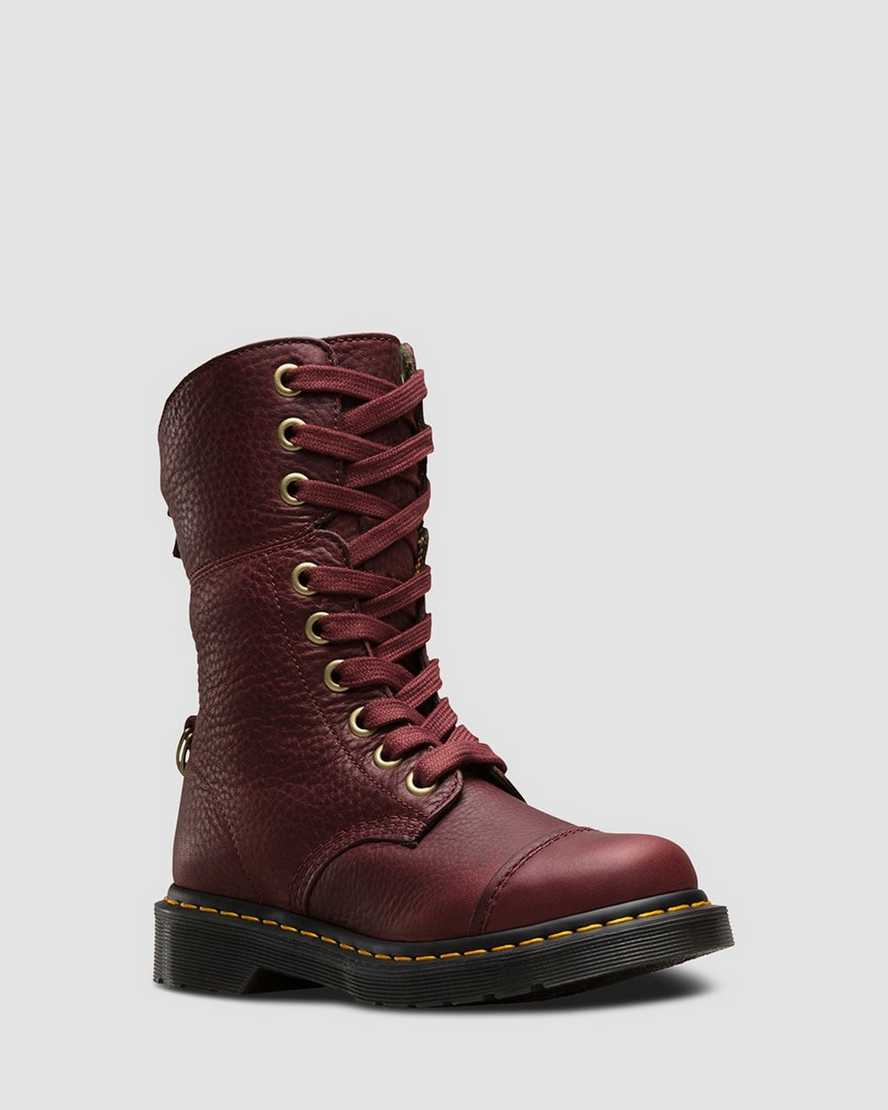 AIMILITA LEATHER HIGH BOOTS | Dr Martens