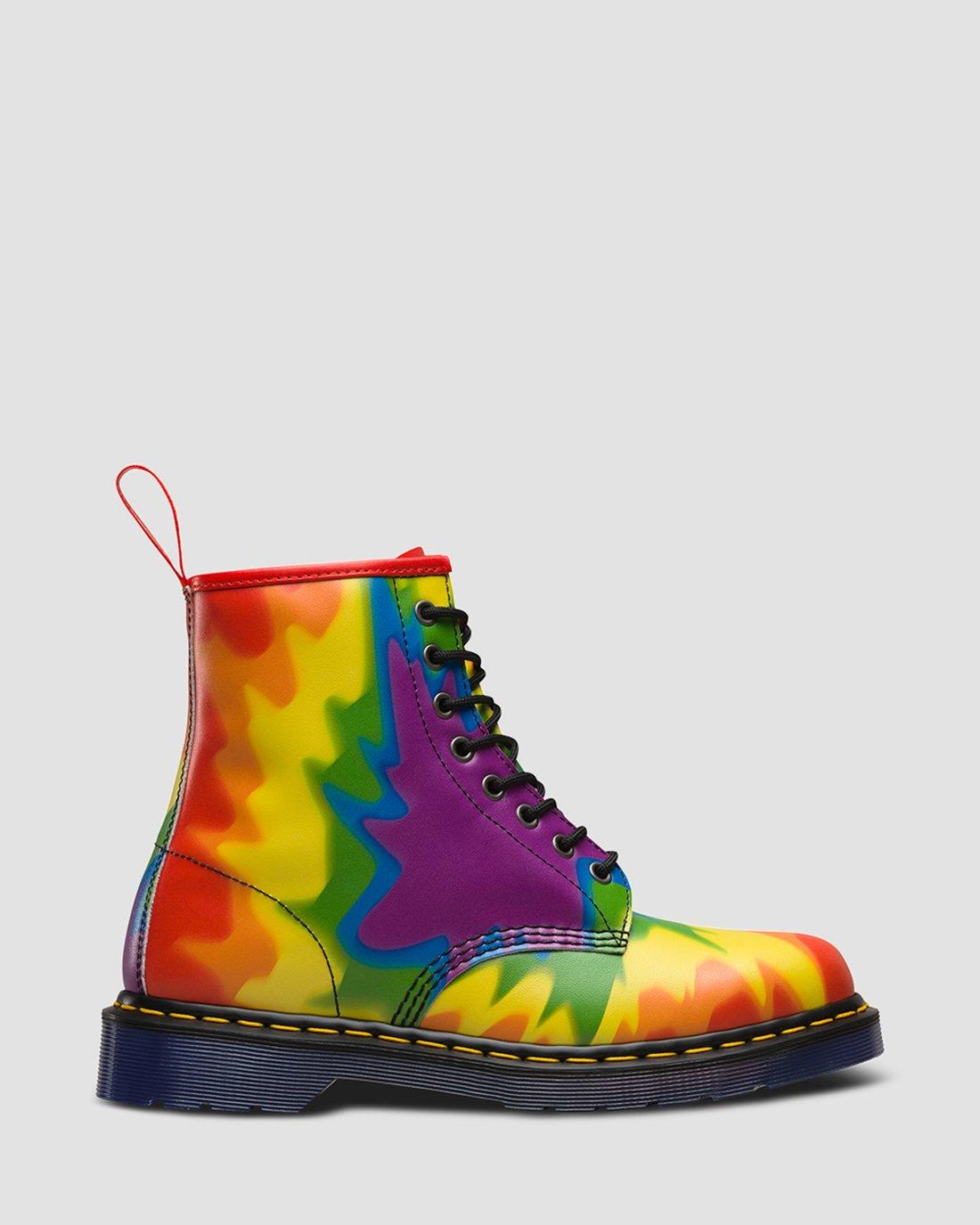 DR MARTENS 1460 PRIDE MULTI PRIDE TYE DYE BACKHAND Boots In
