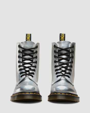 Dr Martens 1460 Pascal Iced Metallic Silver Laser Boots Size UK 5//6