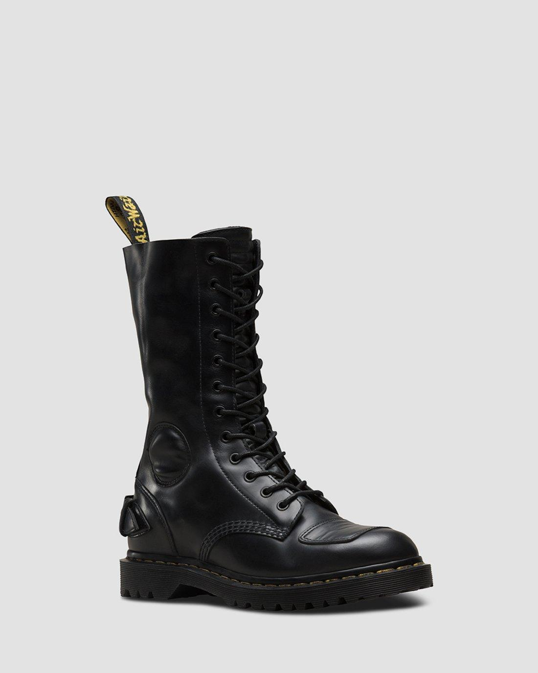 Dr. Martens Milled Smooth Black ankle boots 1460