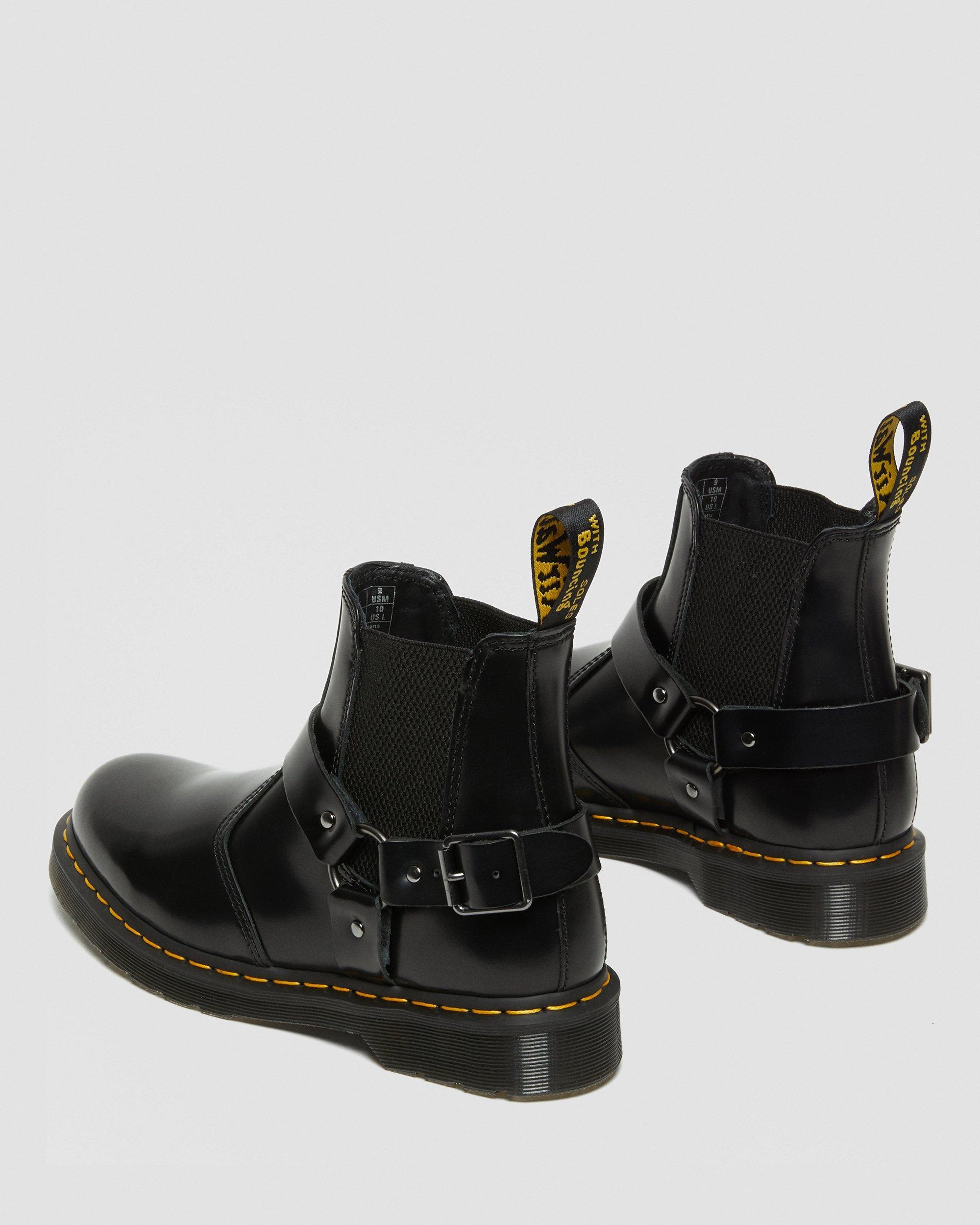 dr martens buckle strap boots
