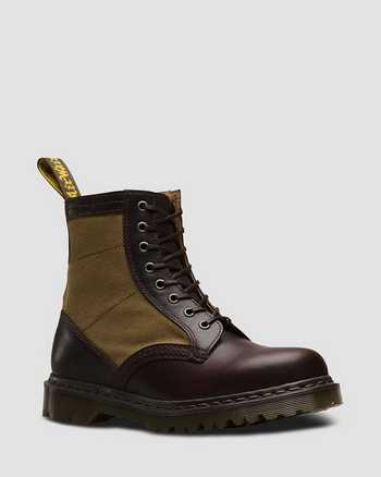 CHOCOLATE+MILITARY OLIVE | Boots | Dr. Martens