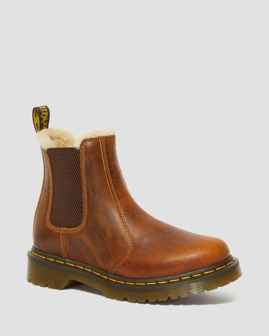 DR MARTENS 2976 Leonore Fur Lined Chelsea Boots