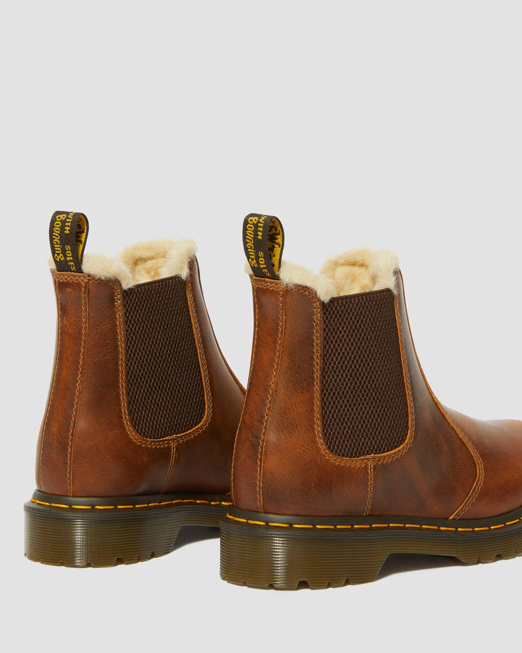 DR MARTENS 2976 Leonore Fur Lined Chelsea Boots
