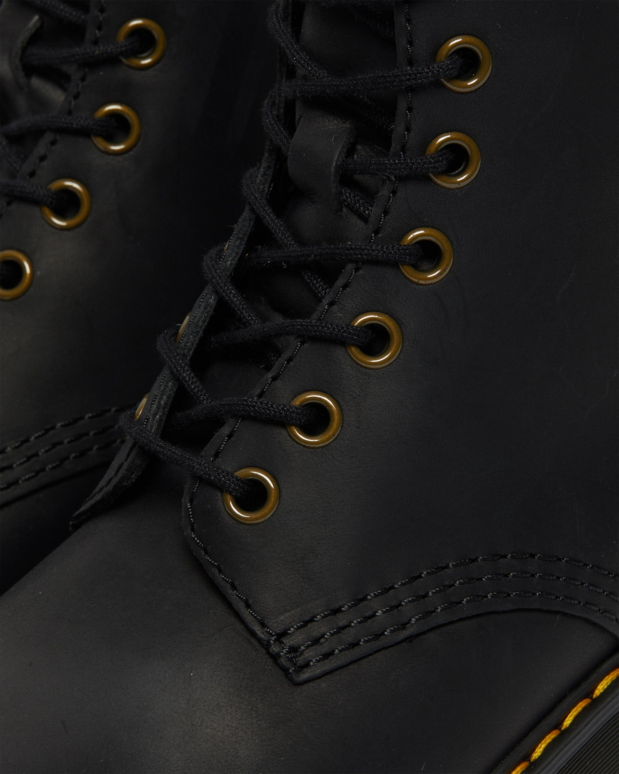 DR MARTENS SHRIVER HI WOMEN'S WYOMING LEATHER HEELED BOOTS