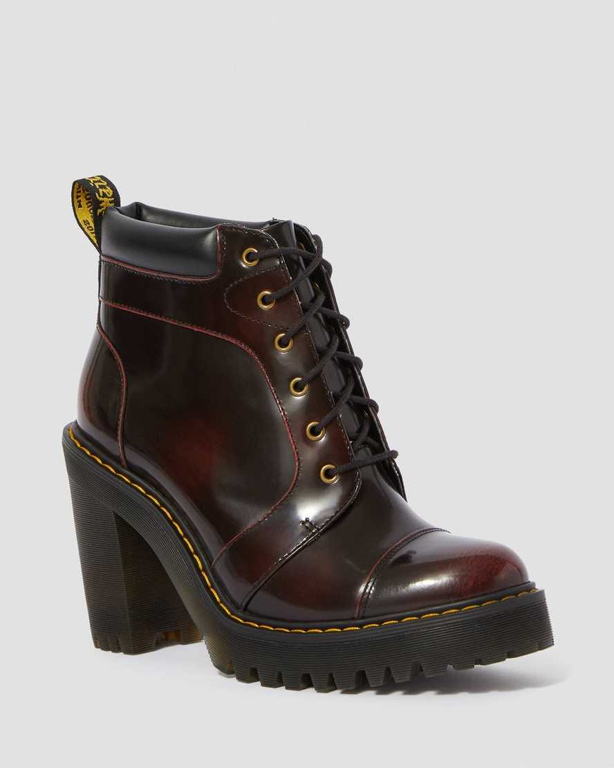 AVERIL LEATHER HEELED ANKLE BOOTS | Dr Martens