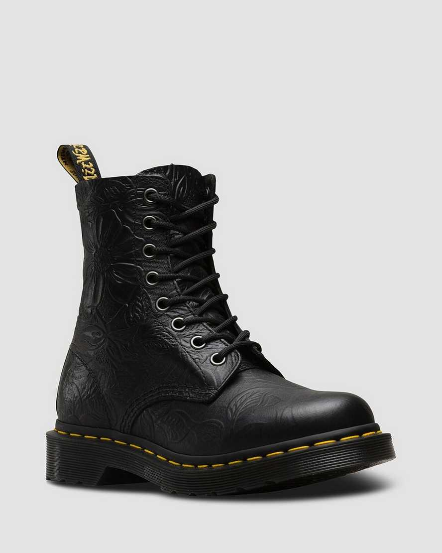 4ac2aa1f3d0 DR MARTENS 1460 PASCAL FLORAL EMBOSS