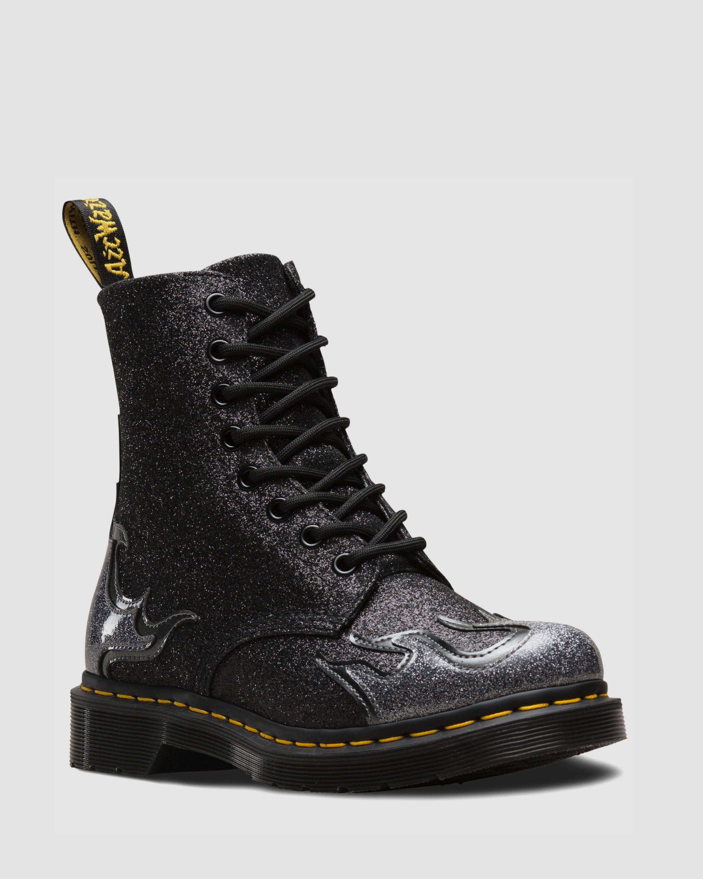 Dr. Martens 1460 Pascal Flame (Noir) Bottines et boots