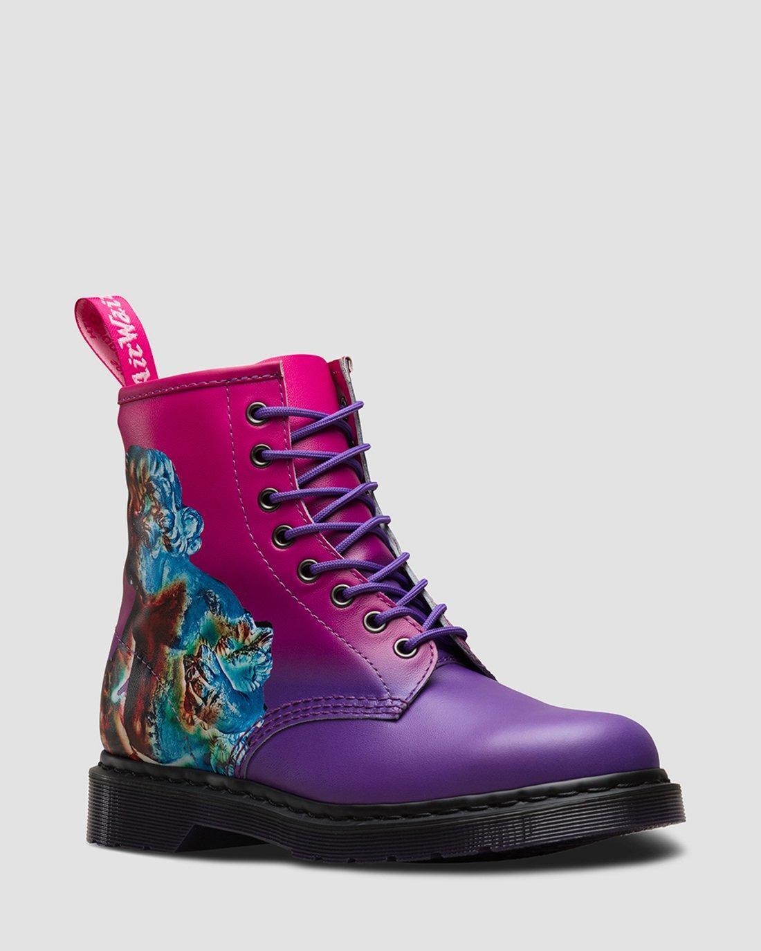 dr martens pink boots