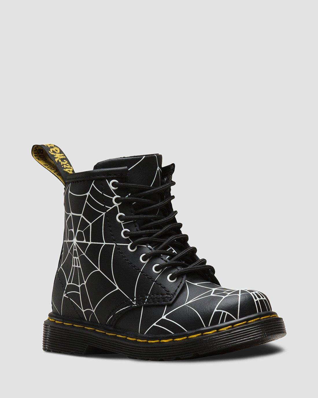 bottine noir et doré avec araignée