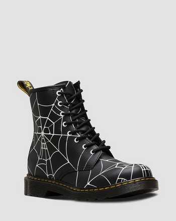 BLACK+SHINY WHITE   Boots   Dr. Martens