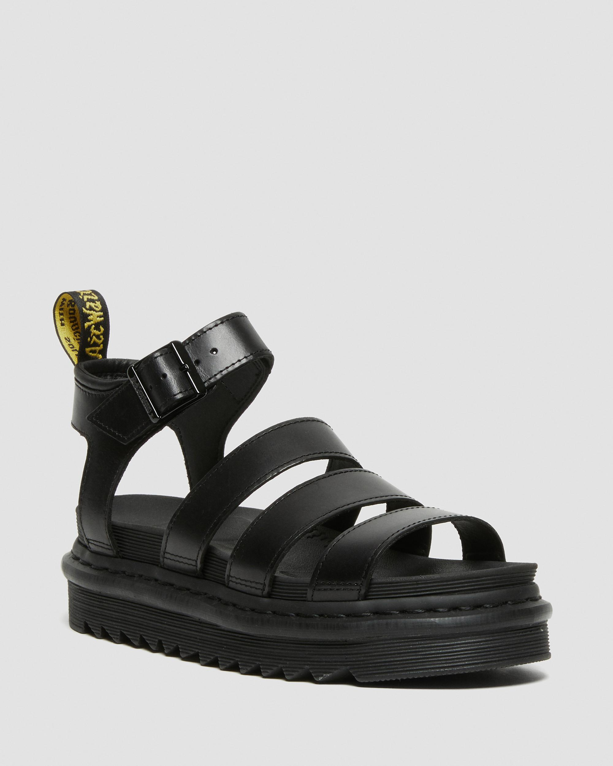 DR MARTENS BLAIRE WOMEN'S BRANDO LEATHER GLADIATOR SANDALS