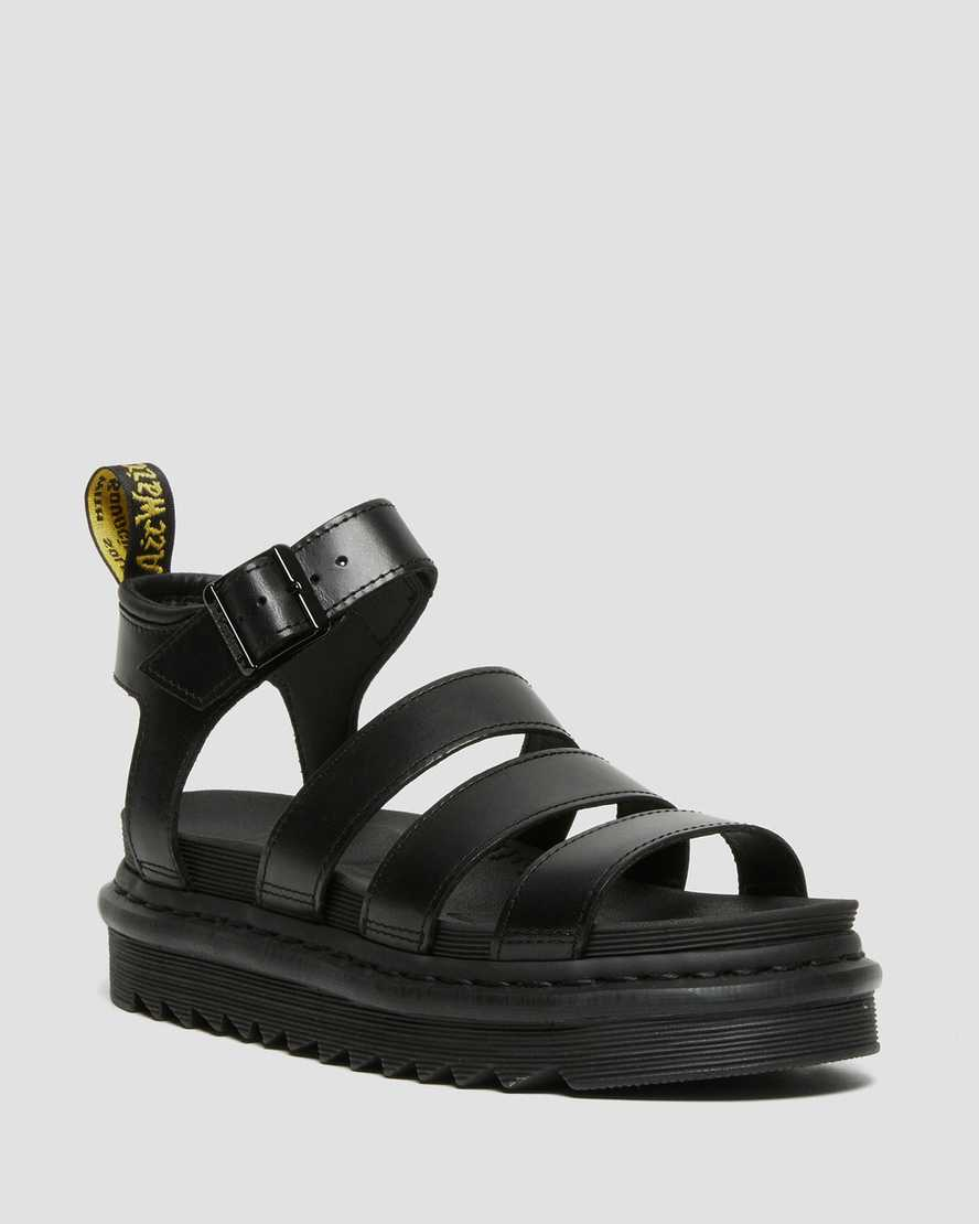 Blaire Women S Brando Leather Gladiator Sandals Dr Martens