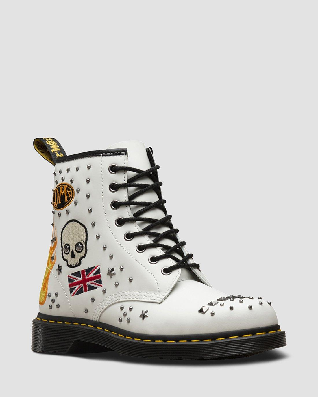 Dr Martens  Women/'s 1460 LIMITED EDITION Rock /& Roll White Smooth All Sizes!!!