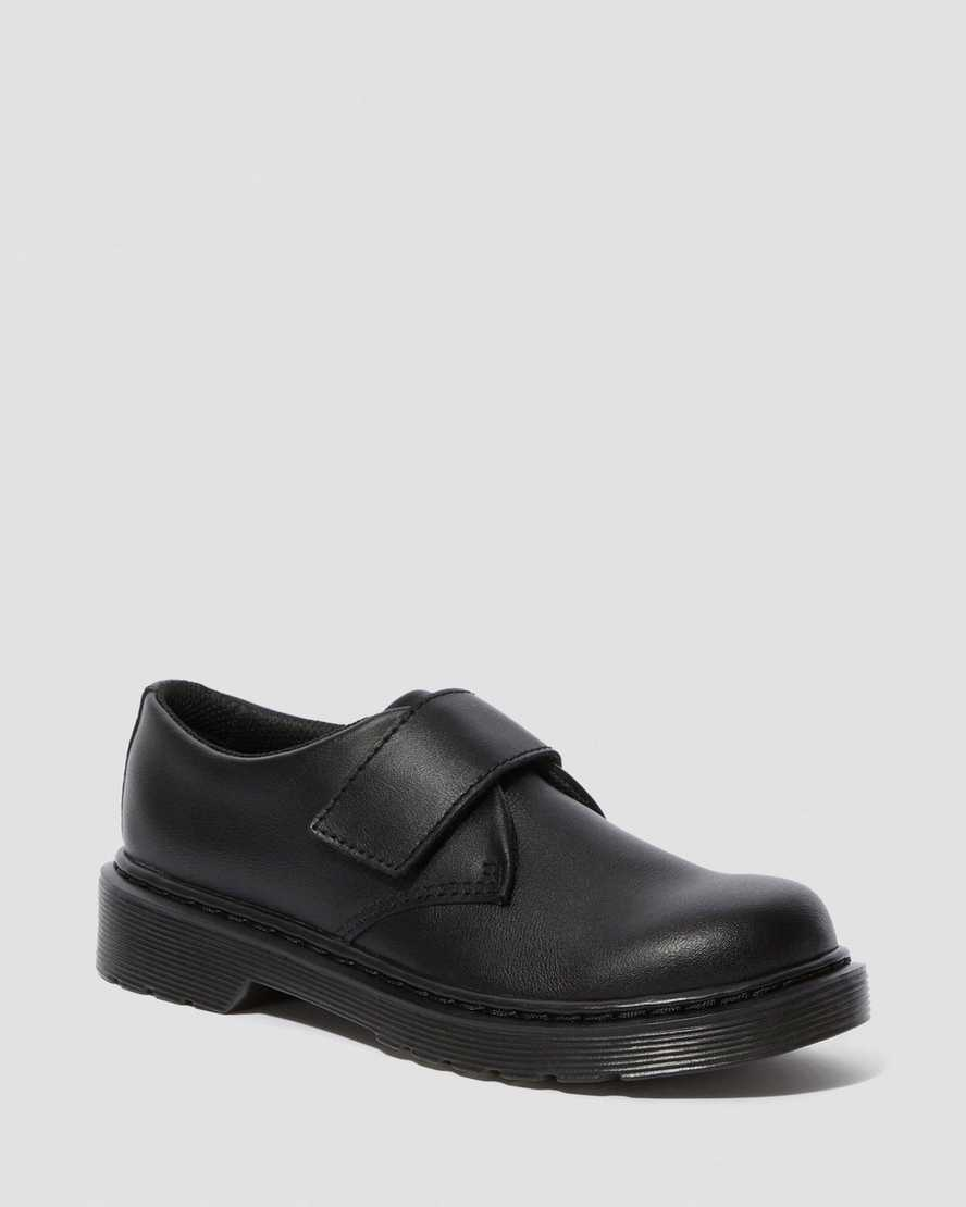 KAMRON JUNIOR LEATHER RIP TAPE SHOES | Dr Martens