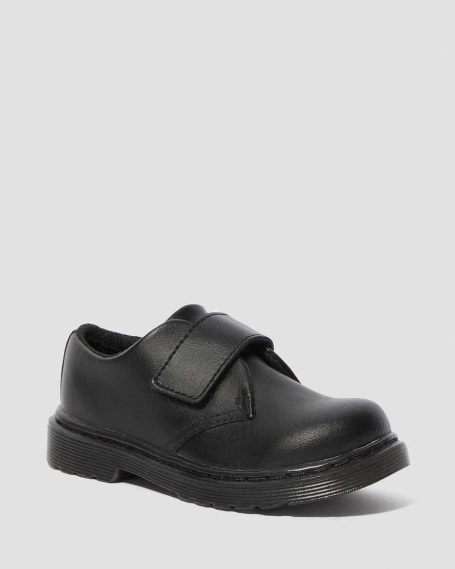 KAMRON TODDLER LEATHER RIP TAPE SHOES | Dr Martens