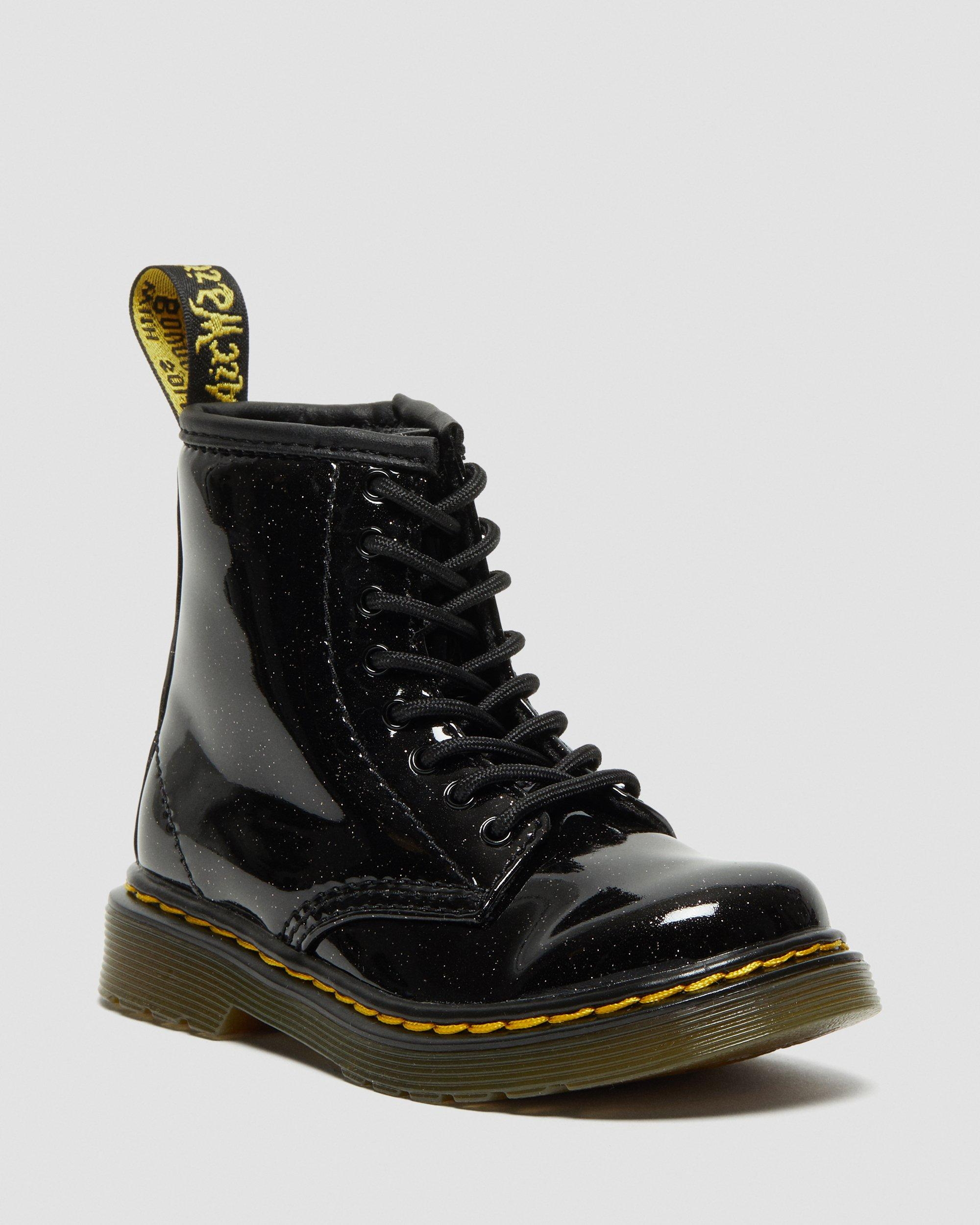 DR MARTENS TODDLER 1460 GLITTER LACE UP BOOTS