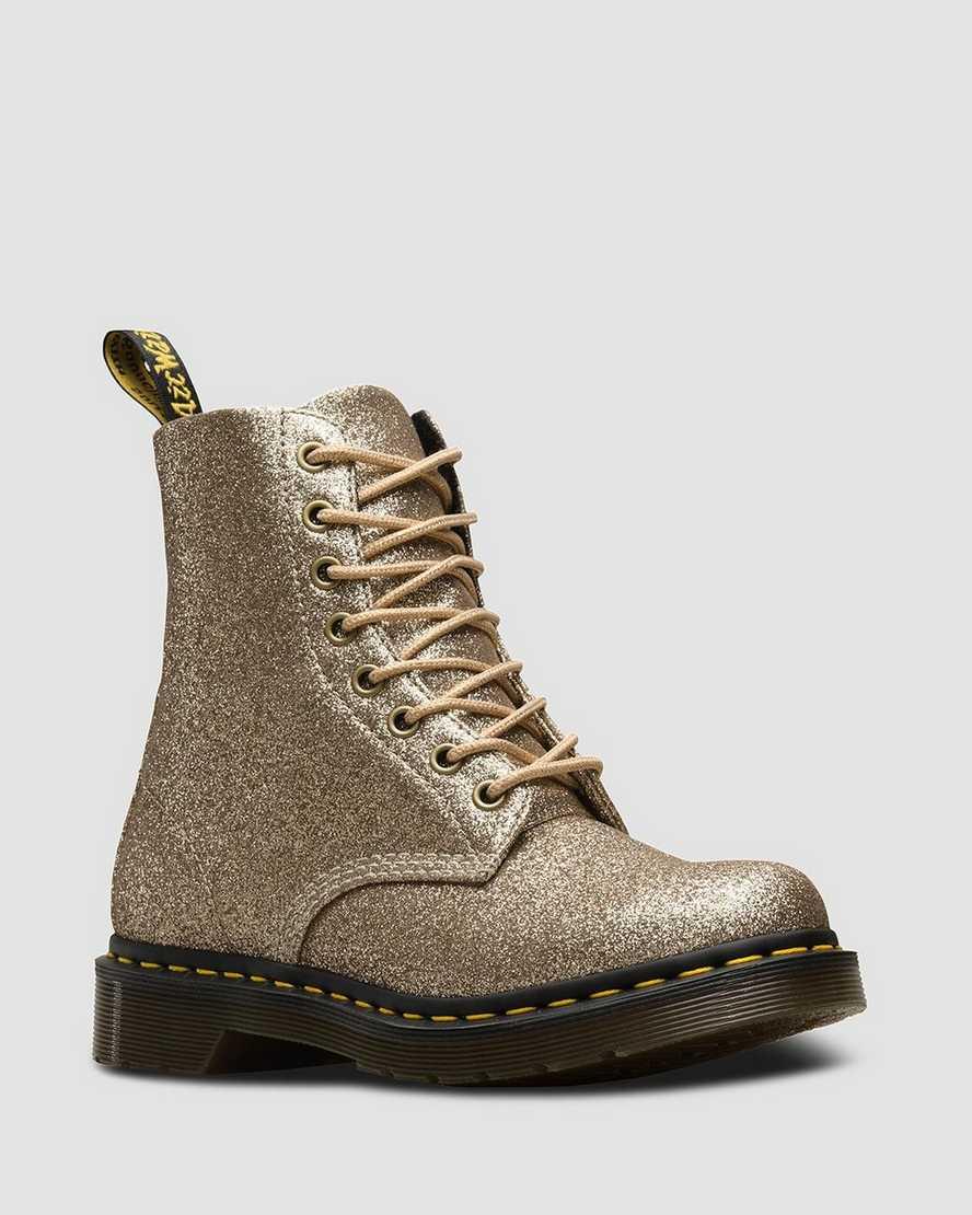 Kaufen der Verkauf von Schuhen detaillierter Blick DR MARTENS 1460 PASCAL FINE GLITTER
