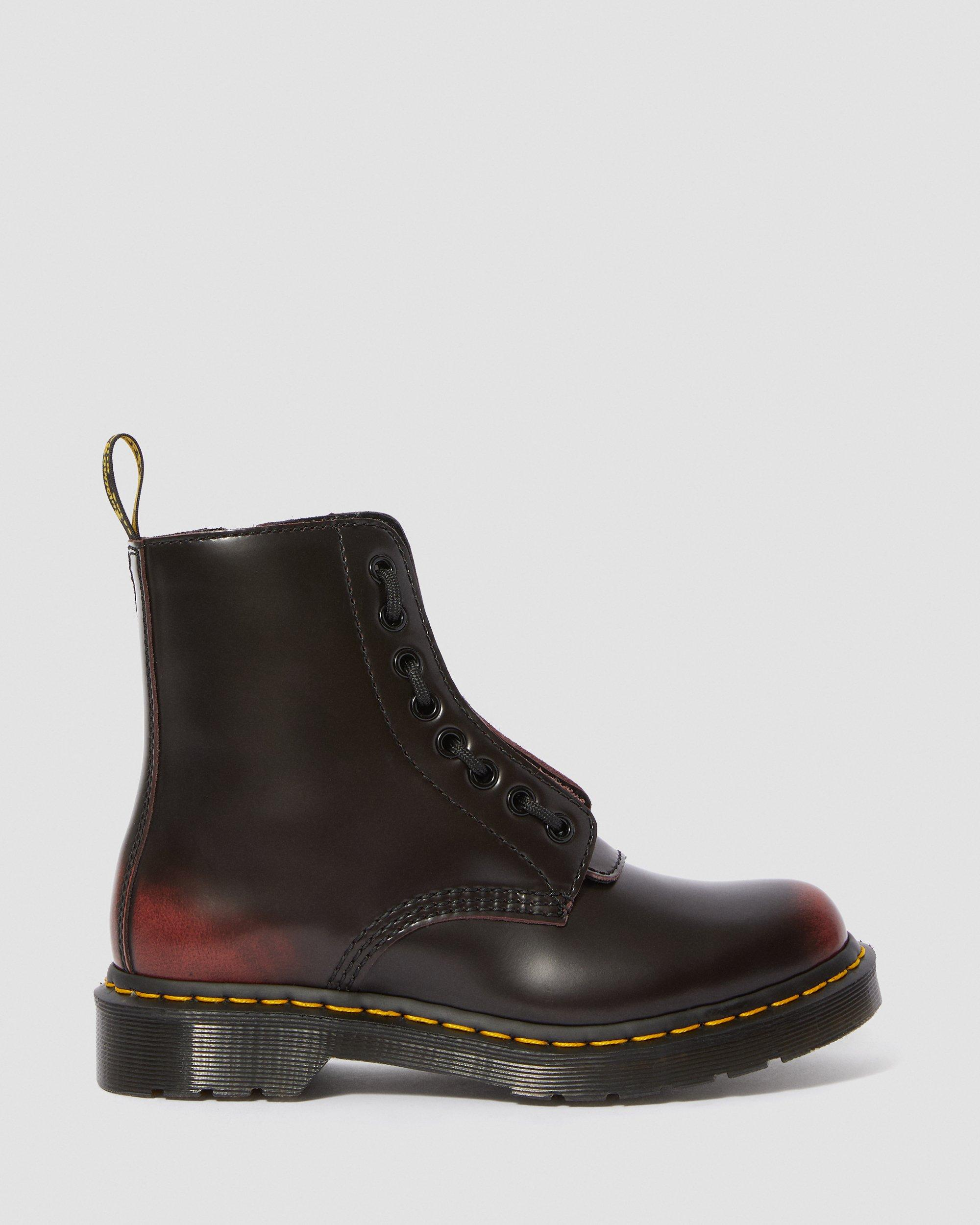 1460 PASCAL FRONT ZIP | Stiefel & Schuhe in Cherry Red
