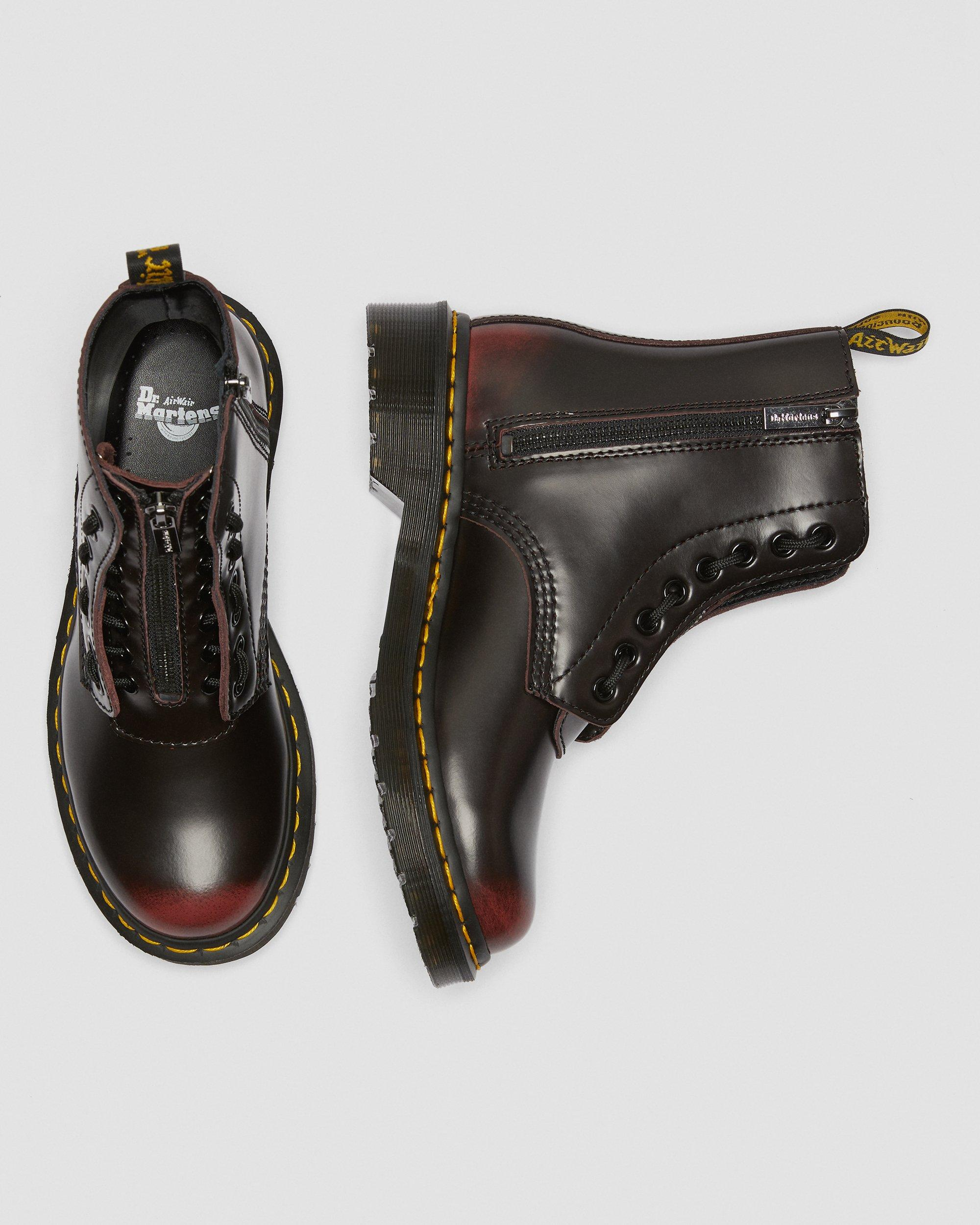 PASCAL LEATHER ZIPPER BOOTS