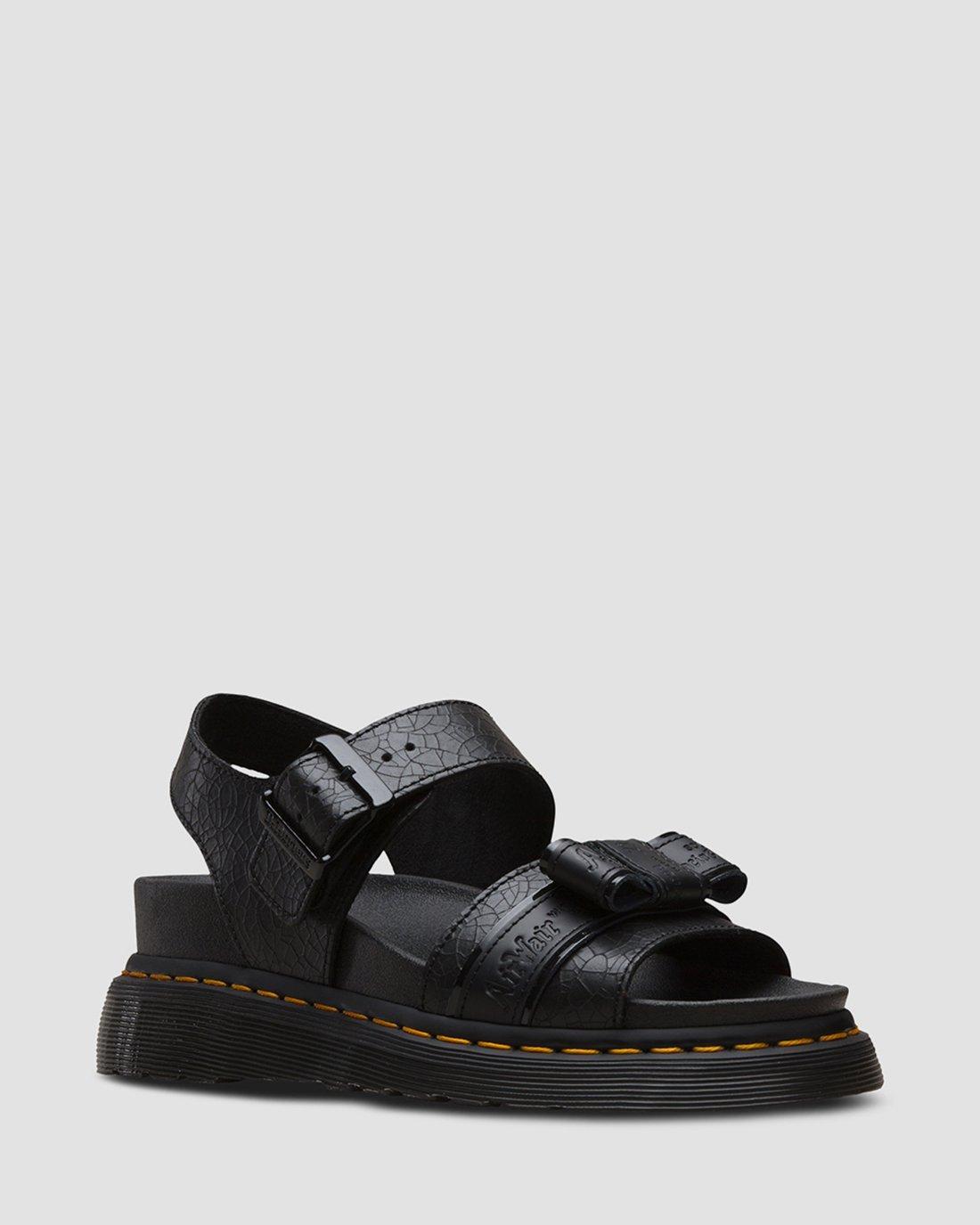 black doc marten sandals