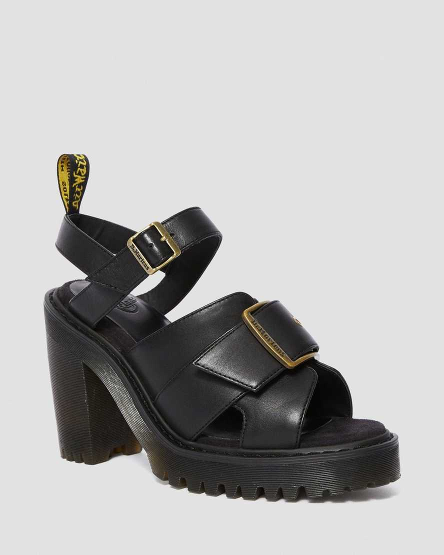 Granik Women's Leather Heeled Sandals | Dr Martens