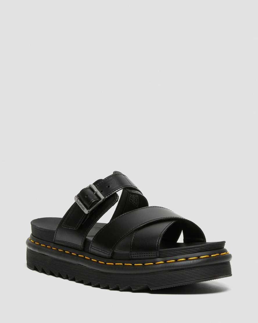 Ryker Leather Strap Slide Sandals | Dr Martens