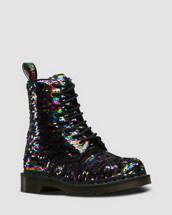 RAINBOW MULTI+SILVER | Boots | Dr. Martens