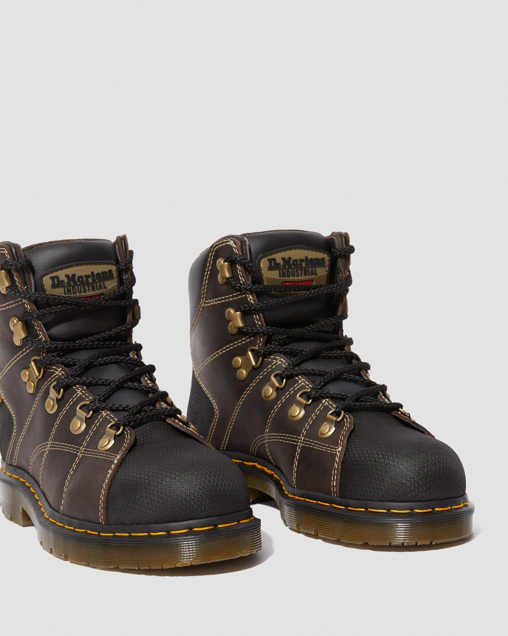 doc marten industrial steel toe boots