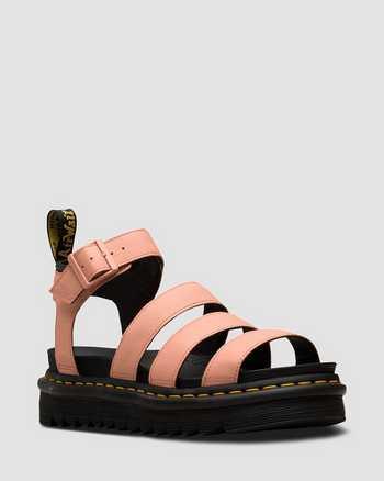 SALMON PINK+BLACK | Sandals | Dr. Martens