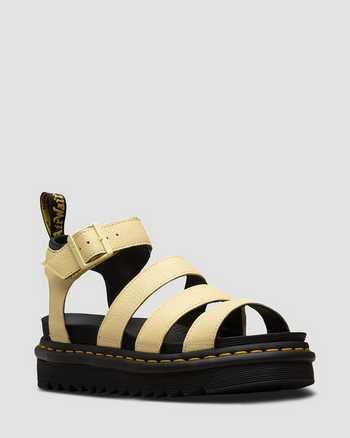 PASTEL YELLOW+BLACK | Sandals | Dr. Martens