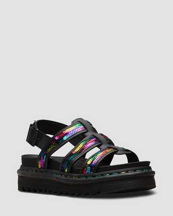 RAINBOW+BLACK+BLACK | Sandals | Dr. Martens